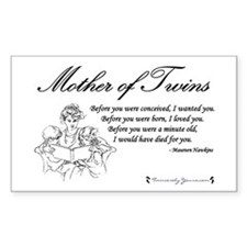 Mom of Twins - Before Rectangle Decal
