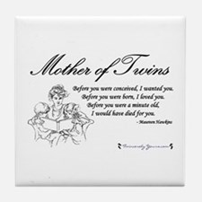 Mom of Twins - Before Tile Coaster