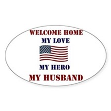 my hero my husband welcome home Decal