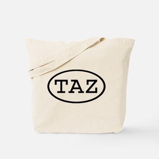 TAZ Oval Tote Bag