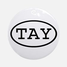 TAY Oval Ornament (Round)