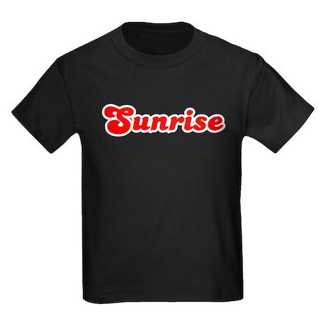 Retro Sunrise (Red) Kids Dark T-Shirt
