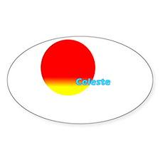 Celeste Oval Decal