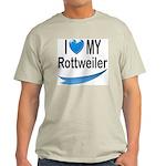 I Love My Rottweiler Ash Grey T-Shirt