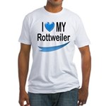 I Love My Rottweiler Fitted T-Shirt