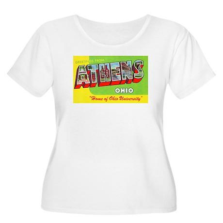 Athens Ohio Greetings (Front) Women's Plus Size Sc