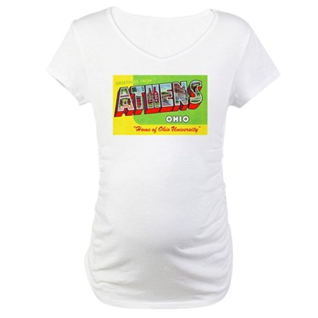 Athens Ohio Greetings (Front) Maternity T-Shirt