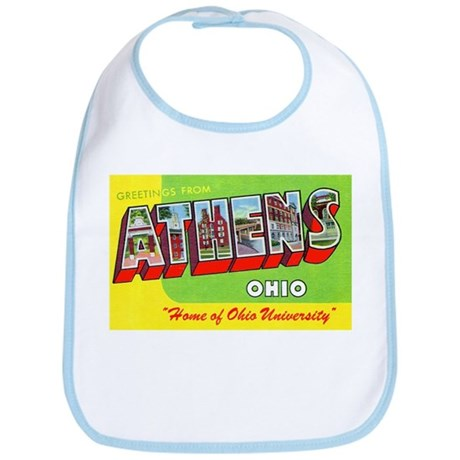 Athens Ohio Greetings Bib