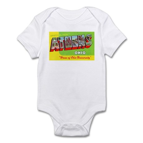 Athens Ohio Greetings Infant Bodysuit