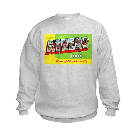 Athens Ohio Greetings Kids Sweatshirt