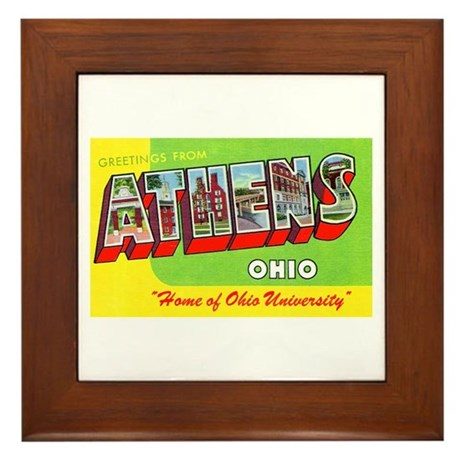 Athens Ohio Greetings Framed Tile