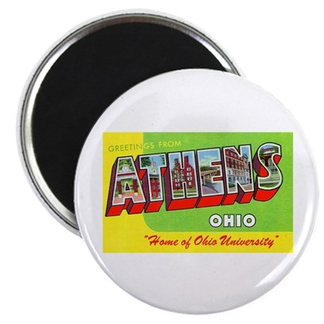 """Athens Ohio Greetings 2.25"""" Magnet (10 pack)"""