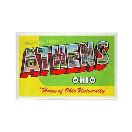 Athens Ohio Greetings Rectangle Magnet (10 pack)