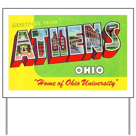 Athens Ohio Greetings Yard Sign