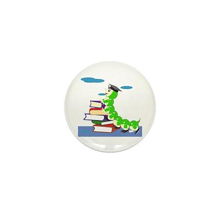 Graduation Bookworm Mini Button