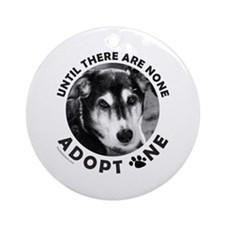 DOG ADOPTION Ornament (Round)