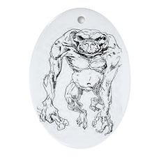Cute Troll lord games Oval Ornament