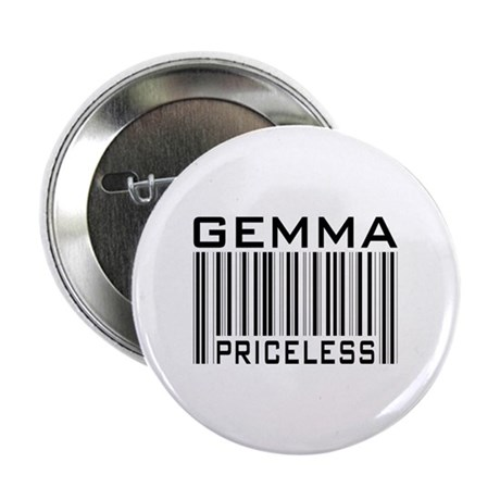 """Gemma First Name Priceless 2.25"""" Button (10 pack)"""