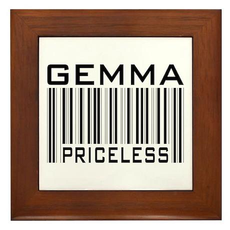 Gemma First Name Priceless Framed Tile