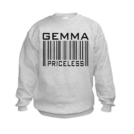 Gemma First Name Priceless Kids Sweatshirt