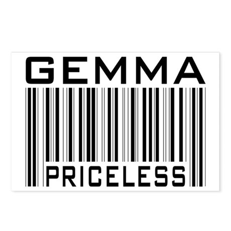 Gemma First Name Priceless Postcards (Package of 8