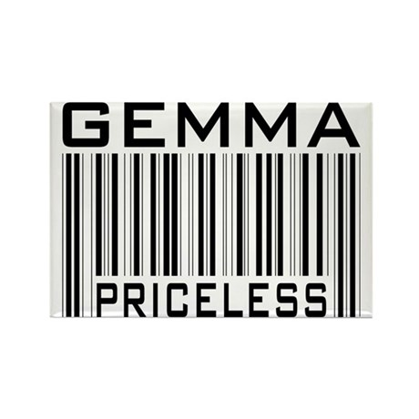Gemma First Name Priceless Rectangle Magnet (100 p