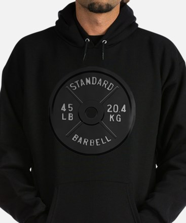 clock barbell45lb2 Sweatshirt