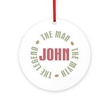 John Man Myth Legend Ornament (Round)
