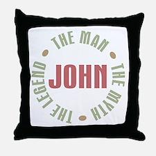 John Man Myth Legend Throw Pillow