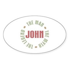 John Man Myth Legend Oval Decal