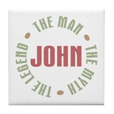 John Man Myth Legend Tile Coaster
