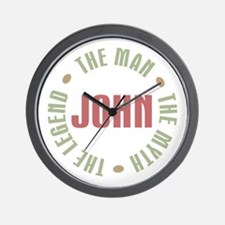 John Man Myth Legend Wall Clock