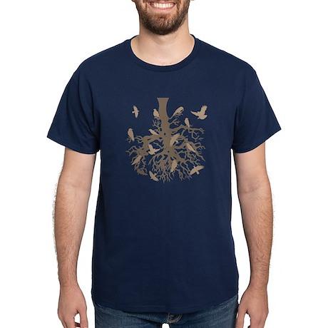 Upside Down Tree Ravens Dark T-Shirt