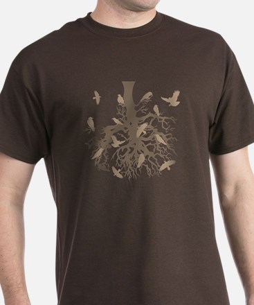 Upside Down Tree Ravens T-Shirt