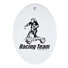"""Racing Team"" Oval Ornament"