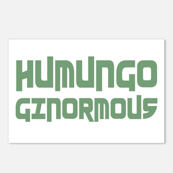 Humungo Ginormous BIG Postcards (Package of 8)