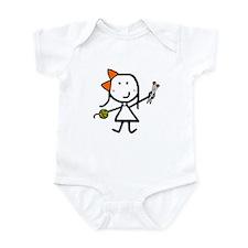 Girl & Knitting Infant Bodysuit