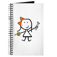 Girl & Knitting Journal