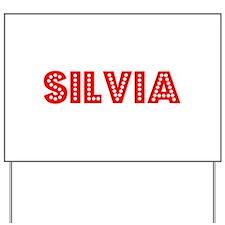 Retro Silvia (Red) Yard Sign