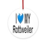 I Love My Rottweiler Keepsake (Round)