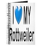 I Love My Rottweiler Journal