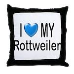 I Love My Rottweiler Throw Pillow