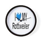 I Love My Rottweiler Wall Clock