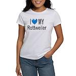 I Love My Rottweiler Women's T-Shirt