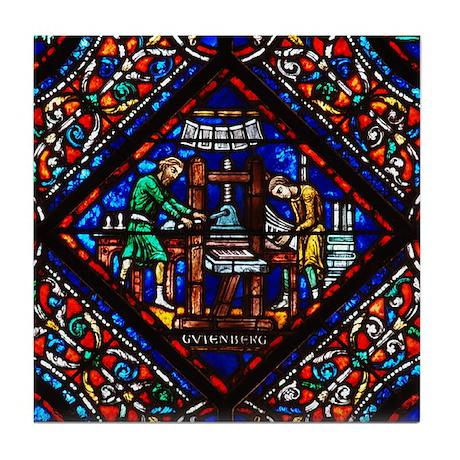Riverside Church Gutenberg Tile Coaster