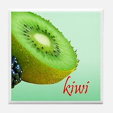 Kiwi Tile Coaster, Cool Green
