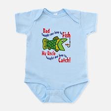 Dad Uncle Fish Onesie