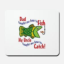 Dad Uncle Fish Mousepad