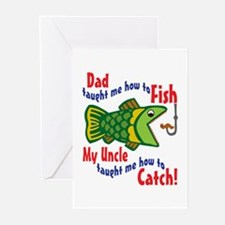 Dad Uncle Fish Greeting Cards (Pk of 10)