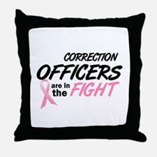 Correction Officers In The Fight Throw Pillow